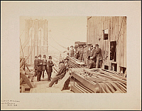 0163770 © Granger - Historical Picture ArchiveBROOKLYN BRIDGE, 1878.   President, Treasurers, Engineers, and Foremen of the Brooklyn Bridge, October 1878.