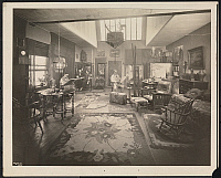 0163822 © Granger - Historical Picture ArchiveNEW YORK: ARTIST'S STUDIO.   Artist H.W. Waddell, in his studio at 253 West 42nd Street, New York City, with another man and woman, 1924.