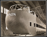 0163835 © Granger - Historical Picture ArchiveLAWSON AIRCRAFT CO., 1927.   Factory space with wooden passenger airplane body under construction, Milwaukee, Wisconsin. Photograph, 1927.
