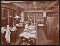 0163899 © Granger - Historical Picture ArchiveNEW YORK: PATTERN DESIGN.   Women working with patterns and mannequins in the pattern design room of McCall Co., New York City. Photograph, 1913.