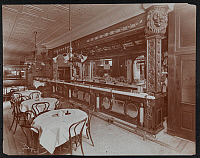0163914 © Granger - Historical Picture ArchiveNEW YORK: FRITZ'S CAFE.   Fritz's Cafe, possibly at 124 Chambers Street, New York City. Photograph, 1906.