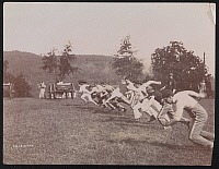 0163942 © Granger - Historical Picture ArchivePEEKSKILL STATE CAMP, 1896.   Men racing at Peekskill State Camp in Homestead, Pennsylvania. Photograph, 1896.