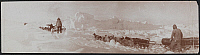 0163982 © Granger - Historical Picture ArchiveDOG SLEDS, c1900.   Three teams of dogs pulling sleds through ice and snow, possibly Canada. Photograph, c1900.