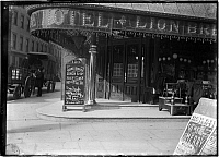 0163989 © Granger - Historical Picture ArchiveNEW YORK: RESTAURANT, 1903.   The Hotel Lion Brew restaurant at the northwest corner of 12th Street and Fourth Avenue. Photograph, 1903.