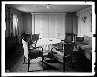 0164030 © Granger - Historical Picture ArchiveMURPHY DOOR BED, 1930.   A stateroom on the German ocean liner S.S. Bremen, showing a closet containing a Murphy Door Bed, 1930.
