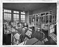 0164049 © Granger - Historical Picture ArchiveFORDHAM HOSPITAL, 1930.   Children's ward with beds in the Fordham Hospital, the Bronx, New York. Photograph, 19 November 1930.