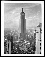 0164053 © Granger - Historical Picture ArchiveEMPIRE STATE BUILDING.   View of the Empire State Building on 34th Street and 5th Avenue from the Lincoln Building on East 42nd Street, New York City. Photograph, 14 February 1931.