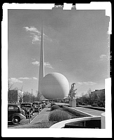 0164057 © Granger - Historical Picture ArchiveNEW YORK WORLD'S FAIR.   Theme center at the New York World's Fair in Flushing Meadows-Corona Park, Queens, New York. Photograph, 10 March 1939.