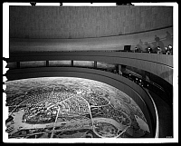 0164060 © Granger - Historical Picture ArchiveNEW YORK WORLD'S FAIR.   Interior of the Perisphere at the New York World's Fair in Flushing Meadows-Corona Park, Queens, New York. Photograph, 16 May 1939.