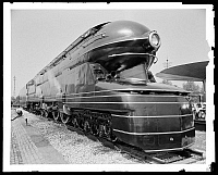 0164061 © Granger - Historical Picture ArchiveNEW YORK WORLD'S FAIR.   Railroad exhibit number 6100, the world's largest steam locomotive, at the New York World's Fair in 1939. Flushing Meadows-Corona Park, Queens, New York. Photograph, 1939.