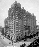 0175552 © Granger - Historical Picture ArchiveNYC: WALDORF-ASTORIA.   The original Waldorf-Astoria Hotel on Fifth Avenue in New York City, built in 1893 and demolished in 1929. Photograph, c1900.