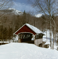 0408699 © Granger - Historical Picture ArchiveNEW HAMPSHIRE, c1970.   A covered bridge in Franconia Notch, New Hampshire. Photograph, c1970.