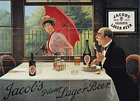 0028767 © Granger - Historical Picture ArchiveBEER ADVERTISEMENT, 1898.   English advertisement, 1898, for Jacob's Pilsener Lager Beer.