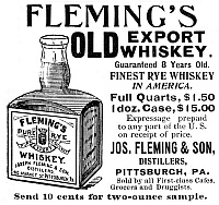 0065005 © Granger - Historical Picture ArchiveFLEMING'S WHISKEY, 1895.   American magazine advertisement, 1895.