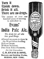 0075142 © Granger - Historical Picture ArchiveEVANS INDIA PALE ALE, 1895.   American newspaper advertisement, 1895.