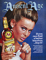0095639 © Granger - Historical Picture ArchiveANCIENT AGE AD, 1967.   American advertisement for Ancient Age Kentucky Bourbon, 1967.
