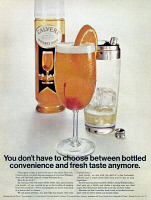 0433912 © Granger - Historical Picture ArchiveAD: WHISKEY SOUR, 1968.   American advertisement for Calvert Whiskey Sour mix. Photograph, 1968.