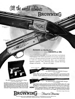 0410019 © Granger - Historical Picture ArchiveAD: FIREARMS, 1961.   American advertisement for Browning Firearms, 1961.