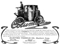 0049467 © Granger - Historical Picture ArchiveAUTOMOBILE AD, 1904.   Electric automobile; American magazine advertisement, 1904.