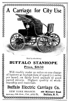 0081040 © Granger - Historical Picture ArchiveAUTOMOBILE AD, 1903.   Advertisement for the Buffalo Stanhope electric automobile, 1903.