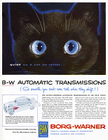 0410060 © Granger - Historical Picture ArchiveAD: AUTOMATIC TRANSMISSION.   American advertisement for Borg-Warner Automatic Transmission, 1954.