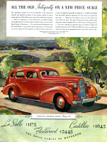 0419916 © Granger - Historical Picture ArchiveAD: CADILLAC, 1936.   American advertisement for Cadillac, manufactured by the General Motors Corporation. Illustration, 1936.