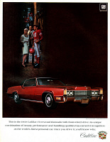 0433931 © Granger - Historical Picture ArchiveAD: CADILLAC, 1968.   American advertisement for the Cadillac Fleetwood Eldorado, manufactured by General Motors. Illustration, 1968.