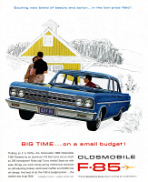 0468582 © Granger - Historical Picture ArchiveAD: OLDSMOBILE, 1963.   American advertisement for the Oldsmobile F-85. Illustration, 1963.