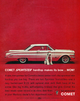 0468583 © Granger - Historical Picture ArchiveAD: MERCURY COMET, 1963.   American advertisement for the Mercury Comet, a division of Ford. Photograph, 1963.
