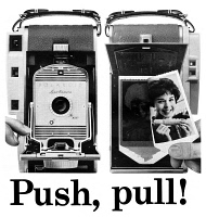 0410105 © Granger - Historical Picture ArchiveAD: POLAROID, 1959.   American advertisement for the Polaroid 800 Land Camera, 1959.