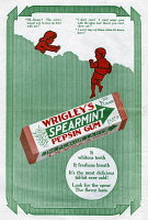 0409665 © Granger - Historical Picture ArchiveAD: WRIGLEY'S, 1911.   American advertisement for Wrigley's Spearmint Pepsin Gum, 1911.