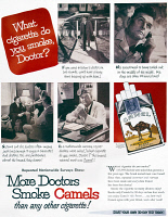 0007467 © Granger - Historical Picture ArchiveCAMEL CIGARETTE AD, 1946.   'More Doctors Smoke Camels than Any Other Cigarette'. advertisement for Camel cigarettes from an American magazine, 1946.