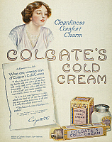 0010834 © Granger - Historical Picture ArchiveCOLD CREAM AD, 1913.   Colgate's Cold Cream advertisement from an American magazine, 1913.
