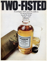 0433917 © Granger - Historical Picture ArchiveAD: LISTERINE, 1968.   American advertisement for Listerine mouthwash. Photograph, 1968.