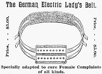 0031835 © Granger - Historical Picture ArchiveELECTRIC BELT AD.   American patent medicine advertisement, late 19th century, for the 'Common Sense Electric Belt.'