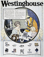 0125039 © Granger - Historical Picture ArchiveWESTINGHOUSE AD, 1924.   American advertisement for Westinghouse electric appliances, 1924.