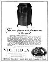 0409824 © Granger - Historical Picture ArchiveAD: VICTROLA, 1919.   American advertisement for the Victrola, manufactured by the Victor Talking Machine Company, 1919.