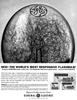 0433707 © Granger - Historical Picture ArchiveAD: FLASHBULB, 1962.   American advertisement for General Electric Flahsbulbs. Photograph, 1962.