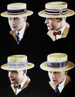 0109029 © Granger - Historical Picture ArchiveHAT ADVERTISEMENT, 1927.   American advertisement for Georges Meyer hats, 1927.