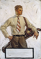 0109210 © Granger - Historical Picture ArchiveARROW SHIRT COLLAR AD, 1922.   American advertisement by J.C. Leyendecker for Arrow shirt collars, 1922.