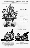0116108 © Granger - Historical Picture ArchiveHAT ADVERTISEMENT, c1900.   English advertisement for ladies' hats, c1900.