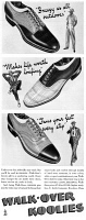 0410228 © Granger - Historical Picture ArchiveAD: SHOES, 1940.   American advertisement for Walk-Over Koolies. Illustrated, 1940.