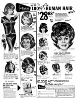 0433363 © Granger - Historical Picture ArchiveAD: WIGS, 1966.   American advertisement for Frederick's of Hollywood fashion wigs. Illustration, 1966.