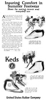 0433738 © Granger - Historical Picture ArchiveAD: KEDS, 1920.   American advertisement for Keds shoe company.