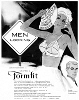 0433892 © Granger - Historical Picture ArchiveAD: FORMFIT BRA, 1959.   American advertisement for Formfit bra. Illustration, 1959.