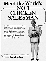 0087694 © Granger - Historical Picture ArchiveKENTUCKY FRIED CHICKEN AD.   Advertisement from an American magazine, 1966.