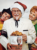 0087695 © Granger - Historical Picture ArchiveKENTUCKY FRIED CHICKEN AD.   Advertisement from an American magazine, 1968.