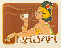 0268708 © Granger - Historical Picture ArchiveAD: COFFEE, 1897.   Poster for Rajah coffee. Lithograph by Henri Meunier, 1897.