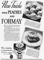 0371264 © Granger - Historical Picture ArchiveAD: SHORTENING, 1937.   American magazine advertisement for Formay Shortening with dessert recipes, 1937.
