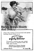 0409680 © Granger - Historical Picture ArchiveAD: MALT-NUTRINE, 1911.   American advertisement for Anheuser Busch's Malt-Nutrine, 1911.